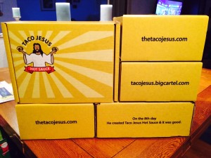 Taco Jesus Shipping Boxes