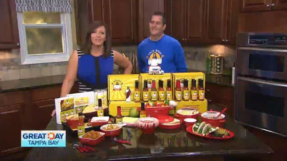 Taco Jesus Hot Sauce on Great Day Tampa Bay