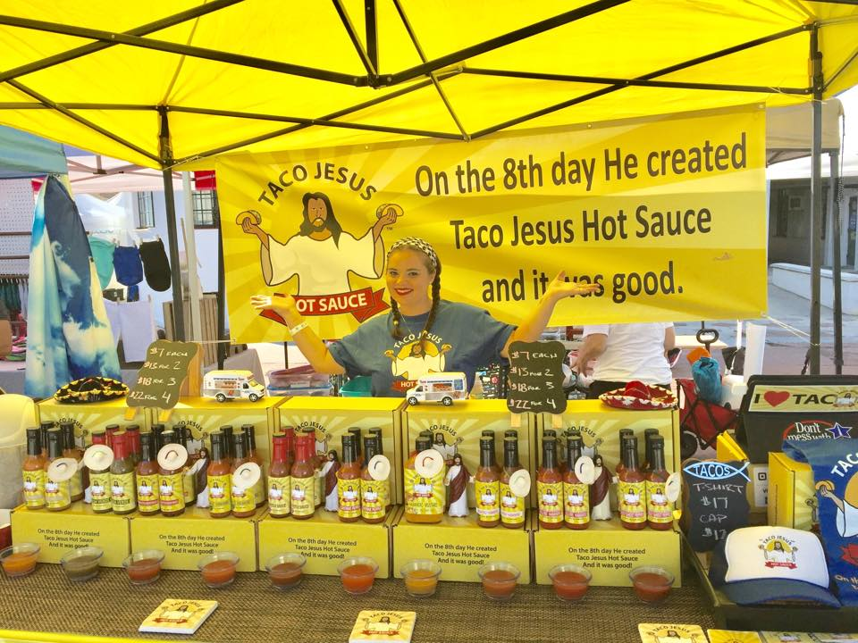 Jen Rohrs and Taco Jesus Hot Sauce